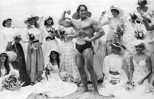 Arnold Schwarzenegger Cannes Folies Bergere 1977
