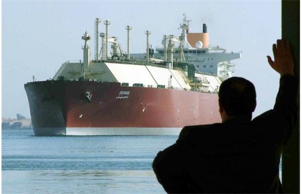 Duhail worlds biggest LNG tanker Suez Canal Egypt