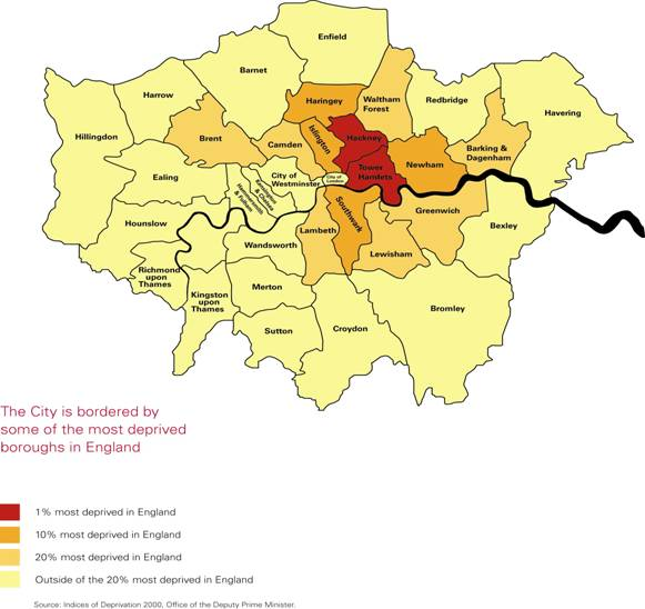 london deprived area map