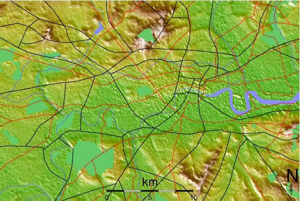 Topographic Map London.Propertyinvesting Net Property Investment Special Reports 378a