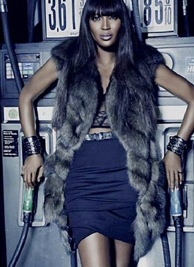 Naomi Campbell Gas Station Ad Dennism Basso