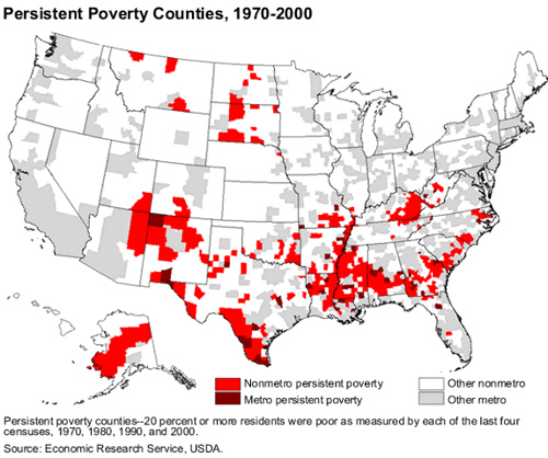 Persistent Poverty Map Counties In Usa
