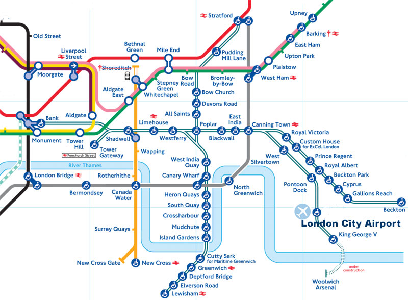PropertyInvestingnet Property Investment Special Reports A - London dlr map