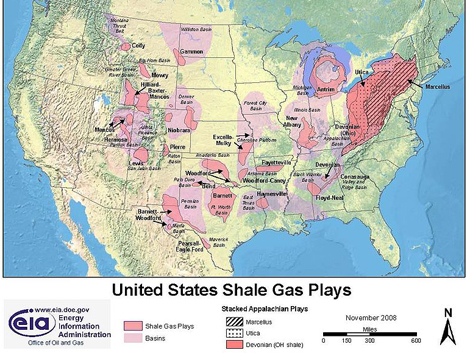 US Shale Gas Plays EIA