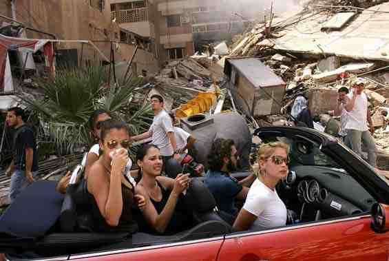 beirut women car wreckage