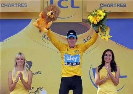 Bradley Wiggins Tour de France winner 2012
