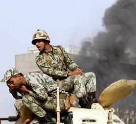 Egypt military - riots