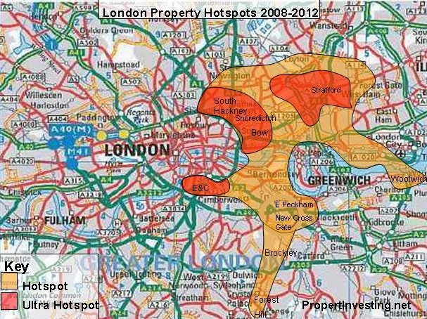 london-map-property-hotspots-olympic-regeneration-boom-areas-property-investment-high-returns-2012-olympics
