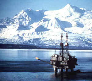 oil-rig-cook-inlet-alaska-usa-with-gas-flare