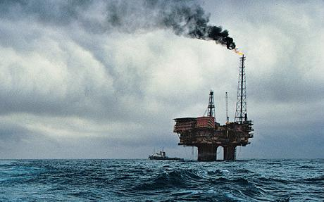 Oil Rig North Sea - aging infra-structure