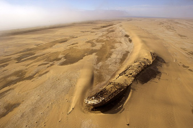 Oil Tanker in Sand Africa